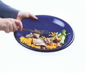 plate scrapings