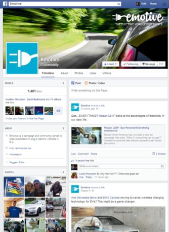 emotive facebook page