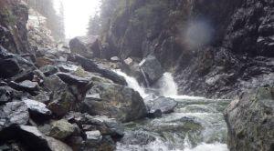 Seymour River rockslide
